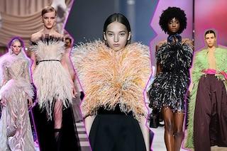 Piume Haute Couture: da Valentino a Givenchy nell'alta moda spopolano gli abiti plumage