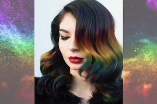 Rainbow Ombré: anche le more possono avere i capelli arcobaleno