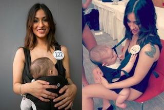 Con il bebè alle selezioni di Miss Italia: Alessia è l'orgoglio di tutte le neomamme