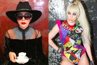 """Lady Gaga a Milano: il tributo a Donatella Versace e il cappotto da """"yeti"""""""
