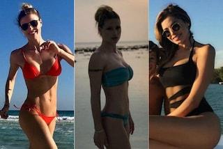 Tutte in bikini, dalla Canalis alla Marcuzzi: le star che hanno passato le feste al mare