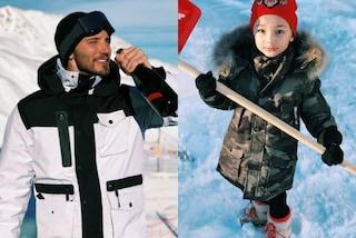 Stefano De Martino, Capodanno con Santiago: i look di papà e figlio sulla neve