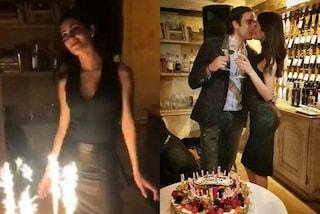 Look dark e baci con Matri: il compleanno a sorpresa di Federica Nargi