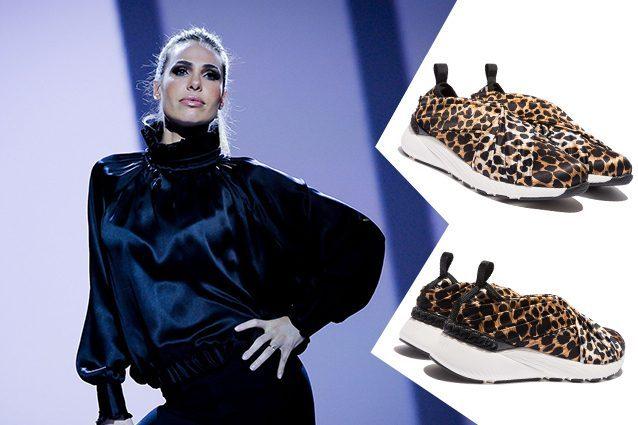 Le scarpe animalier di Ilary Blasi a Le Iene Show