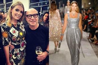 Kitty Spencer, la nipote di Lady Diana, sfila come una principessa per Dolce&Gabbana