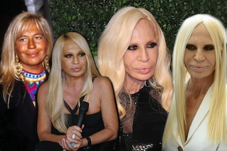 Com'è cambiata Donatella Versace: l'evoluzione di trucco, capelli e aspetto