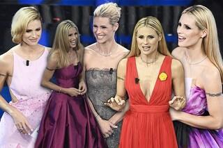 Look minimal e ispirazioni vintage: tutti i capelli di Michelle Hunziker al Festival di Sanremo