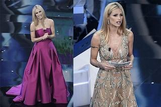 Michelle Hunziker: nude look e anelli preziosi nella seconda serata di Sanremo
