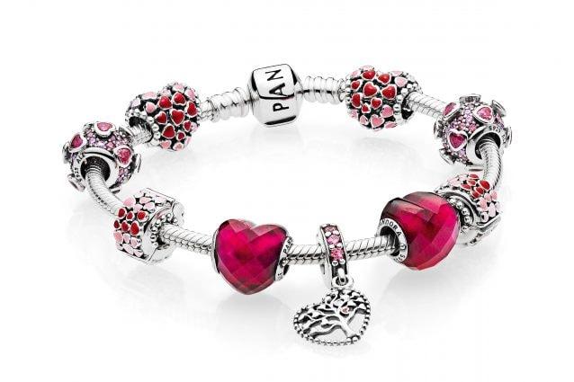charm pandora cuore rosso