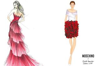Michelle Hunziker con volant e rose rosse: svelati i primi look per Sanremo