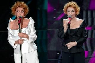 Ornella Vanoni a Sanremo: ripropone per due volte lo stesso completo