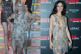 """Michelle Hunziker e il look """"già visto"""": a Sanremo indossa l'abito di Marica Pellegrinelli"""