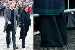Il pantalone di Meghan Markle è troppo lungo: l'errore di stile della futura principessa