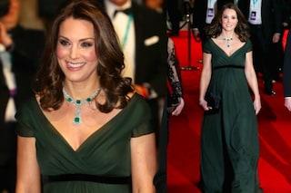 Kate Middleton l'unica a non aver indossato il nero ai Bafta 2018, ecco perché lo ha fatto