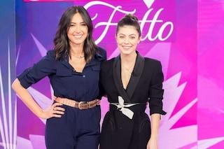 Alessandra Mastronardi a Detto Fatto: look maschile dalla Balivo