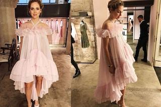 """Il vestito di Chiara Ferragni per gli Oscar 2018: """"Lo indosserò in casa"""""""
