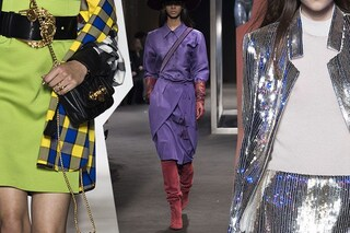 Colori, fantasie e abbinamenti di moda il prossimo inverno: indosseremo oro, fluo e righe