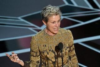 Il discorso per le donne di Frances McDormand, senza trucco sul palco degli Oscar