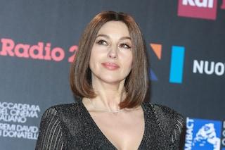 Monica Bellucci cambia look: ai David di Donatello con il nuovo taglio di capelli
