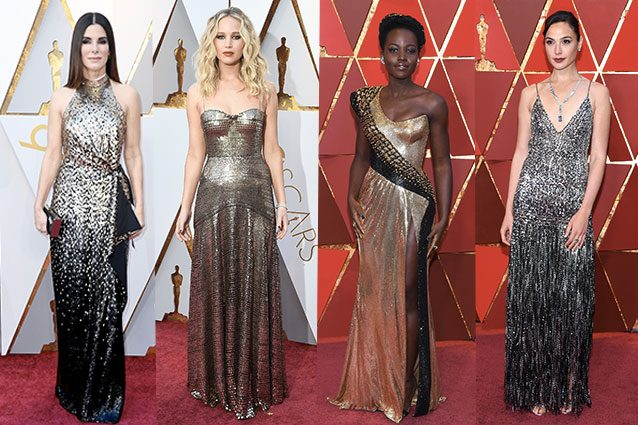 Sandra Bullock, Jennifer Lawrence, Lupita Nyong'o, Gal Godot