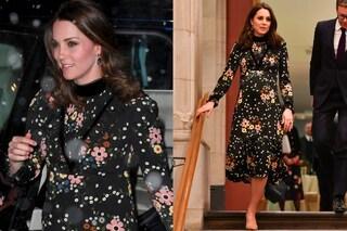 Kate Middleton sotto la neve senza cappotto: sfida il freddo con tacchi e abito a fiori