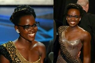 Lupita Nyong'o, la prima star che indossa gli occhiali da vista agli Oscar