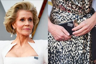 Da Jane Fonda a Sandra Bullock: tutte con la spilla di Time's Up agli Oscar