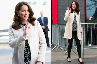 Il ritiro dalle scene di Kate Middleton prima del parto: jeans skinny per l'ultimo impegno