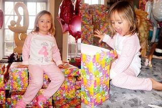 I 4 anni di Sophia Ecclestone, la figlia dell'ereditiera posa su una montagna di regali
