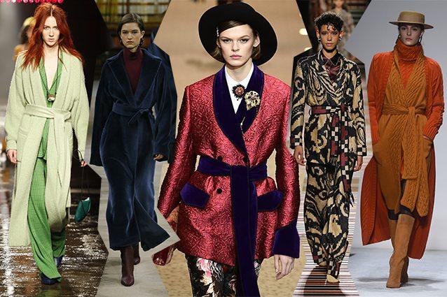 da sinistra Missoni, Giada, Dolce e Gabbana, Etro, Laura Biagiotti