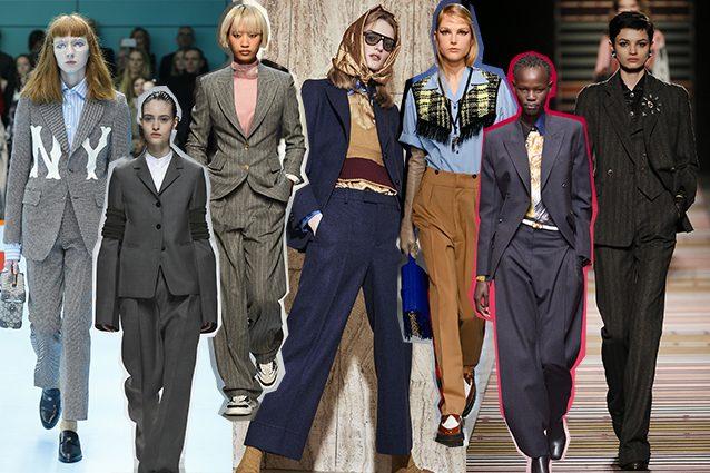 da sinistra Gucci, Jil Sander, Ermanno Scervino, The Gigi, N.21, Salvatore Ferragamo, Etro