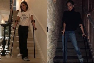 Victoria Beckham con tutore e stampelle: ecco cosa è accaduto all'ex Spice