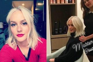 "Leighton Meester cambia look: l'ex Blair di ""Gossip Girl"" passa al biondo platino"