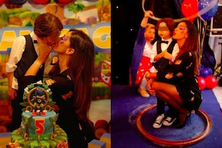 Belén Rodriguez in minigonna e tacchi a spillo: il look per il compleanno di Santiago