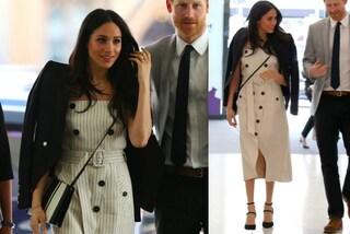 Meghan Markle infrange ancora il protocollo: porta la giacca sulle spalle come Lady Diana