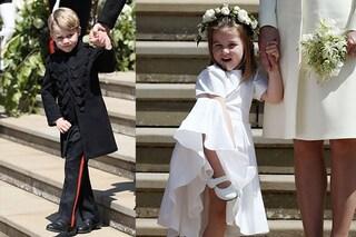 Charlotte e George rubano la scena alla sposa: sono loro i più amati del Royal Wedding