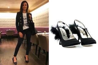 """Caterina Balivo con le scarpe """"pelose"""": il look per la primavera della presentatrice"""