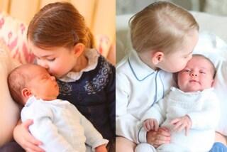 Vi siete accorti che la prima foto del principe Louis è identica a quella di Charlotte?