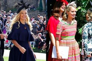 Chelsy e Cressida, le ex di Harry al Royal Wedding: cappelli piumati e stampe etniche