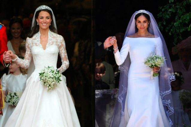 Meghan Markle Vs. Kate Middleton: i look da sposa a confronto