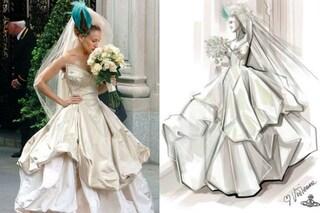 L'abito da sposa di Carrie Bradshaw compie 10 anni: il Cloud Dress è passato alla storia