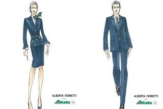 Blu e con dei dettagli a righe: ecco le nuove divise Alitalia firmate Alberta Ferretti