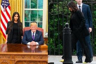 Kim Kardashian in nero per l'incontro con Trump: ecco perché ha scelto un look sobrio