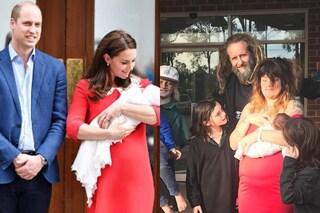 Perfetta dopo il parto? Una mamma imita le pose di Kate Middleton con in braccio Louis
