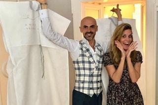 L'ultima prova prima del matrimonio: Filippa Lagerback con Enzo Miccio e l'abito da sposa