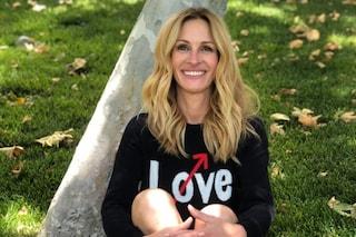 Julia Roberts: il debutto su Instagram con il maglione Love