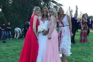 I look degli invitati al matrimonio di Filippa Lagerback e Daniele Bossari