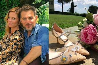 Matrimonio Filippa Lagerback e Daniele Bossari, le fedi e le scarpe della sposa