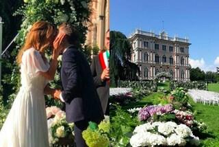 Cerimonia all'aperto tra i fiori colorati: le nozze di Daniele Bossari e Filippa Lagerback