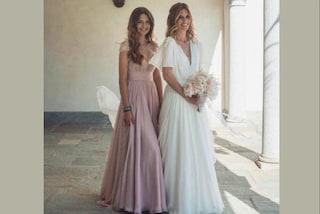 Stella Bossari in lilla: il look per il matrimonio di Daniele e Filippa Lagerback